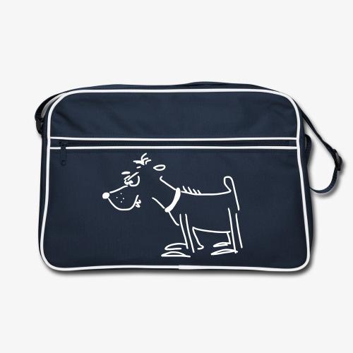Retro-Tasche mit Terrier - Retro Tasche