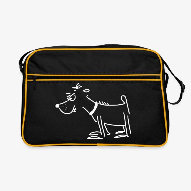 Retro-Tasche mit Terrier
