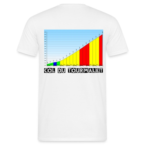Col du Tourmalet - Profile - Men's T-Shirt