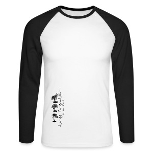 Tee-Shirt Homme Manches Longues coloré Tree Creator - T-shirt baseball manches longues Homme