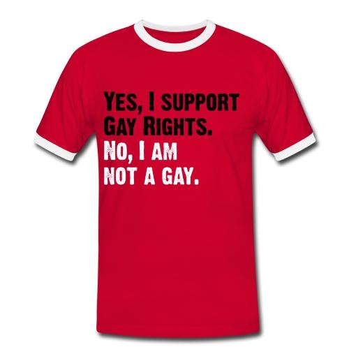 Man red/white Text black - Männer Kontrast-T-Shirt