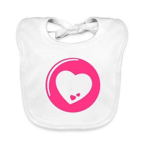 Baby Bio-Lätzchen - Lätzchen,Herz,Button