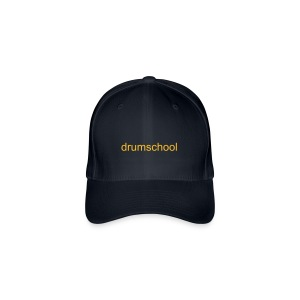 Flexfit Baseball Cap - Flexfit Baseball Cap With Drum School Logo In Yellow Gold On Front.