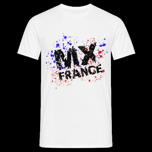 Tshirt homme Splash tricolore blanc - T-shirt Homme