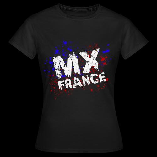 Tshirt femme Splash tricolore noir - T-shirt Femme