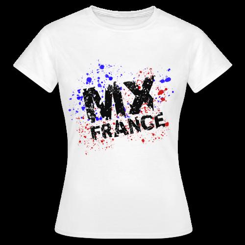 Tshirt femme Splash tricolore blanc - T-shirt Femme