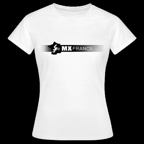 Tshirt MX France Logo noir femme - T-shirt Femme