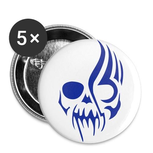 Sticker rot - Buttons groß 56 mm (5er Pack)