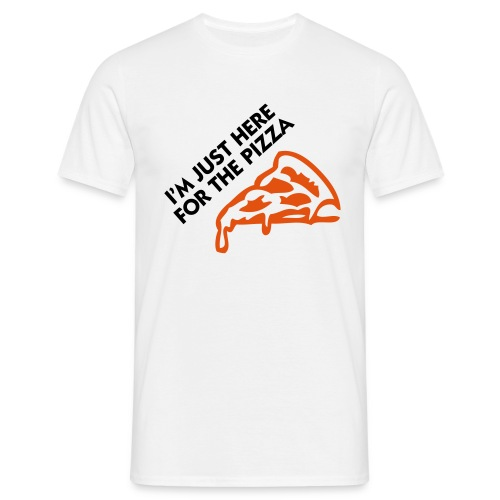 Here for the Pizza - Men's T-Shirt