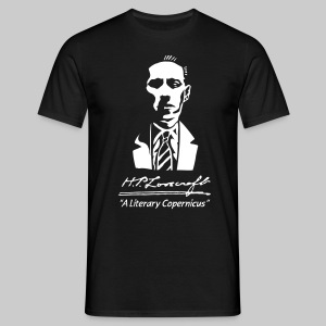 MTEd1: H.P. Lovecraft - A Literary Copernicus (monochrome) - Men's T-Shirt