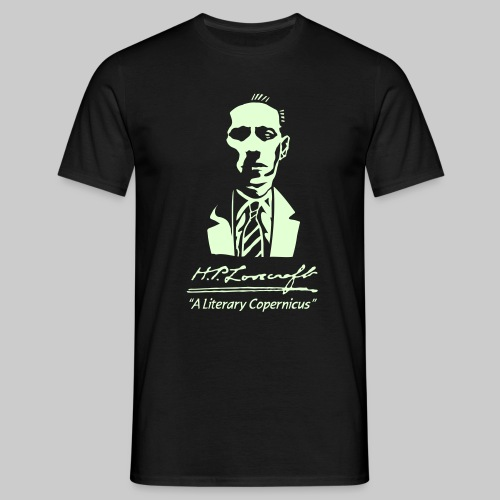 MTEl: H.P. Lovecraft - A Literary Copernicus (glow in the dark) - Men's T-Shirt