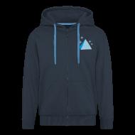 Hoodies & Sweatshirts ~ Men's Premium Hooded Jacket ~ Pyramid Hoodie Dark Blue