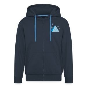 Pyramid Hoodie Dark Blue - Men's Premium Hooded Jacket