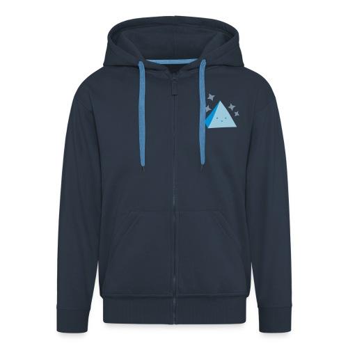 Pyramid Hoodie Dark Blue - Men's Premium Hooded Jacket