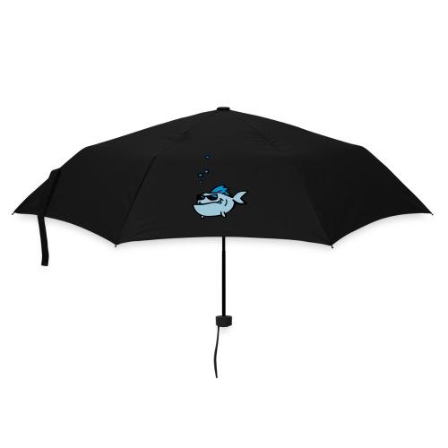 Fisch mit Sonnenbrille - Regenschirm (klein)
