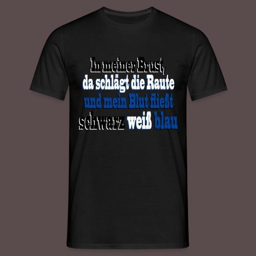 Rauten-Herz (Spruch) - Männer T-Shirt