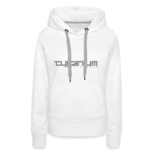 Tytanium Recordings 2-Color Logo Girls Hoody (Selectable Colors) - Women's Premium Hoodie