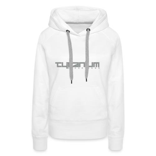 Tytanium Recordings 2-Color Logo Girls Hoody (Selectable Colors) - Women's Premium Hoodie