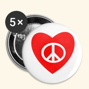 PEACE AND LOVE - Badge grand 56 mm