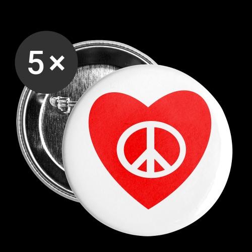 Amour et Paix par TattooFont3D - Buttons large 56 mm