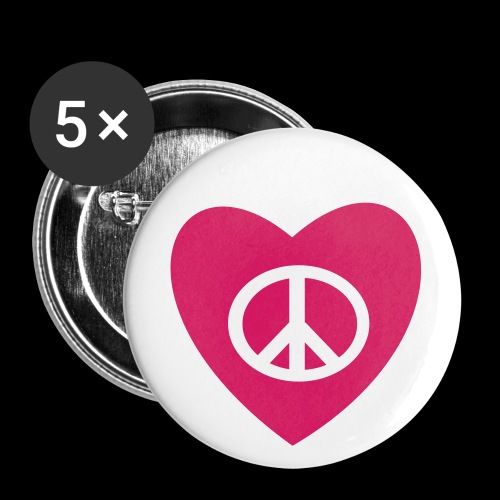 Peace and Love by TattooFont3D - Buttons medium 32 mm