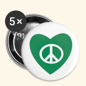 PEACE AND LOVE - Badge petit 25 mm