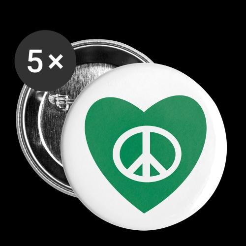 Amour et Paix par TattooFont3D - Buttons small 25 mm