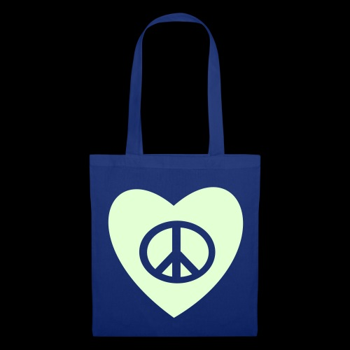 Peace and Love by TattooFont3D - Tote Bag