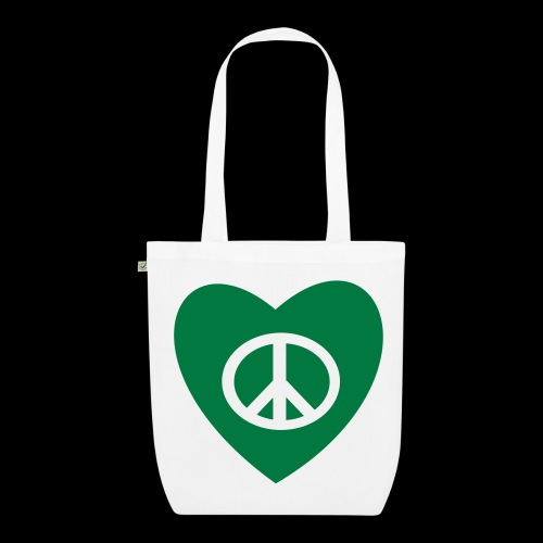 Peace and Love by TattooFont3D - EarthPositive Tote Bag