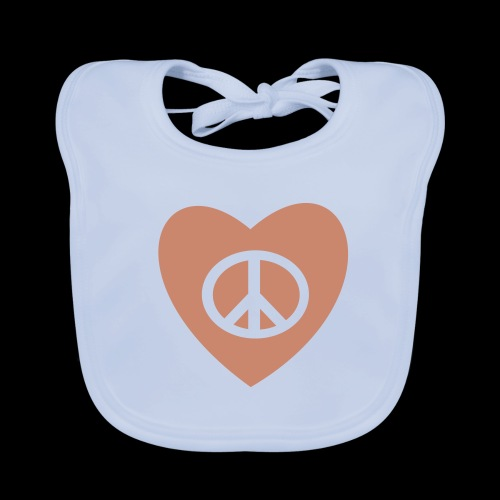 Peace and Love by TattooFont3D - Baby Organic Bib