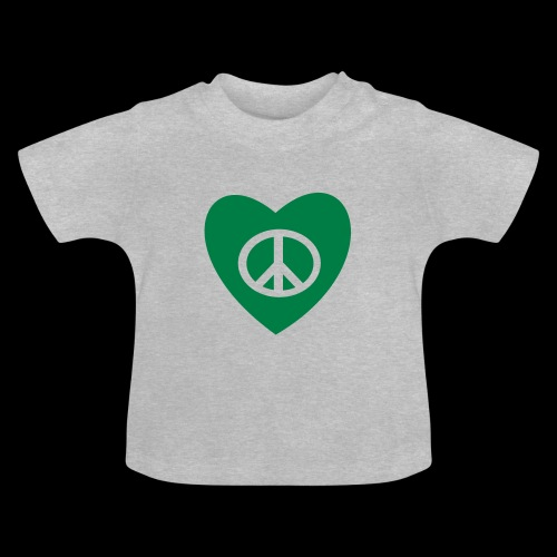 Peace and Love by TattooFont3D - Baby T-Shirt