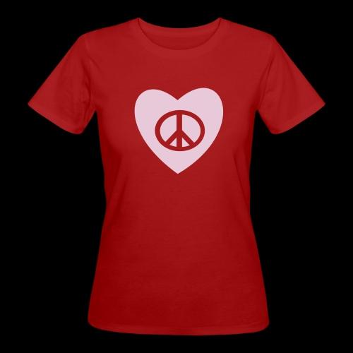 Peace and Love by TattooFont3D - Women's Organic T-Shirt