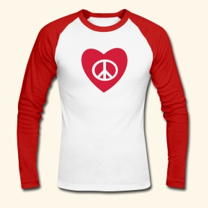 PEACE AND LOVE - T-shirt baseball manches longues Homme