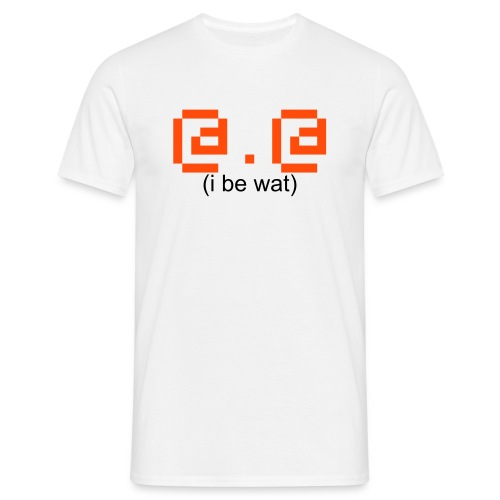 i be [wat] // t-shirt homme smiley QUOI ? - T-shirt Homme