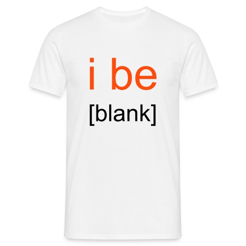 i be [blank] // t-shirt homme smiley rien - T-shirt Homme