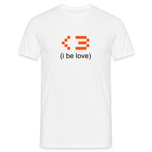 i be [love] // t-shirt homme smiley coeur - T-shirt Homme