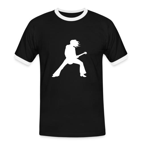 Obcisły męski t-shirt - Koszulka męska z kontrastowymi wstawkami