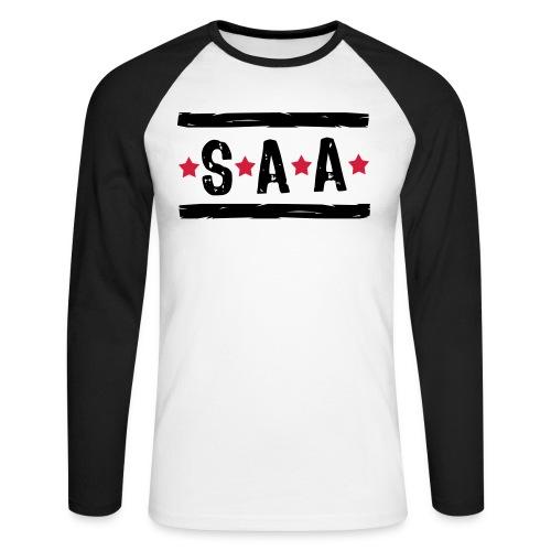 S.A.A. - Schijt Aan Alles (mannen, longsleeve) - Mannen baseballshirt lange mouw