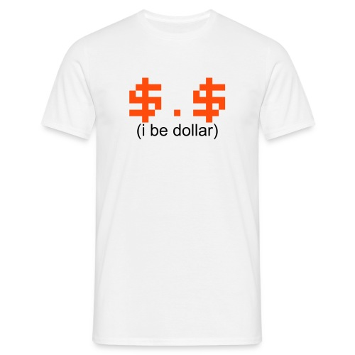 i be [dollar] // t-shirt homme smiley argent - T-shirt Homme