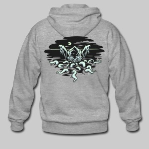 MHJd: Cthulhu Rising (glow in the dark & reflective) - Men's Premium Hooded Jacket