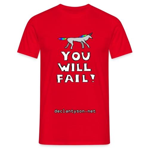 Robot Unicorn Attack - You Will Fail! - Men's T-Shirt