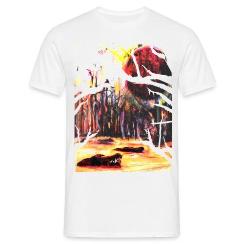 Alligator White - Men's T-Shirt