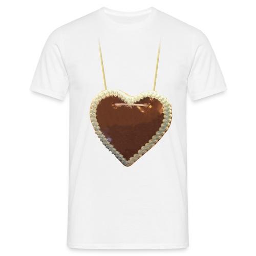 Rummel-Herz für eigenen Text - Männer T-Shirt