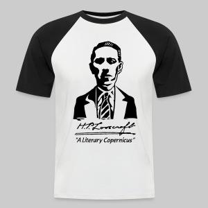 MTZ: H.P. Lovecraft Portrait - A Literary Copernicus (monochrome) - Men's Baseball T-Shirt