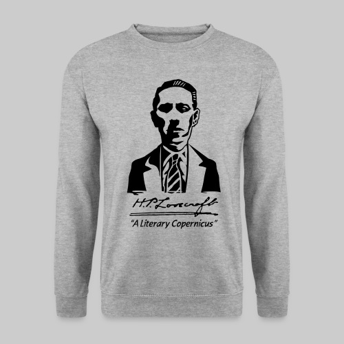 MPU1: H.P. Lovecraft Portrait - Literary Copernicus (monochrome) - Men's Sweatshirt