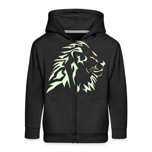 Lion tribal phosphorescent - Veste à capuche Premium Enfant