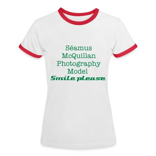 Model Smile please - Women's Ringer T-Shirt