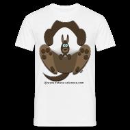 Tee shirts ~ Tee shirt Homme ~ Kangourou homme blanc