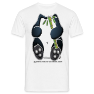 Tee shirts ~ Tee shirt Homme ~ Panda homme blanc