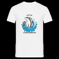 Tee shirts ~ Tee shirt Homme ~ Save dauphin blanc homme